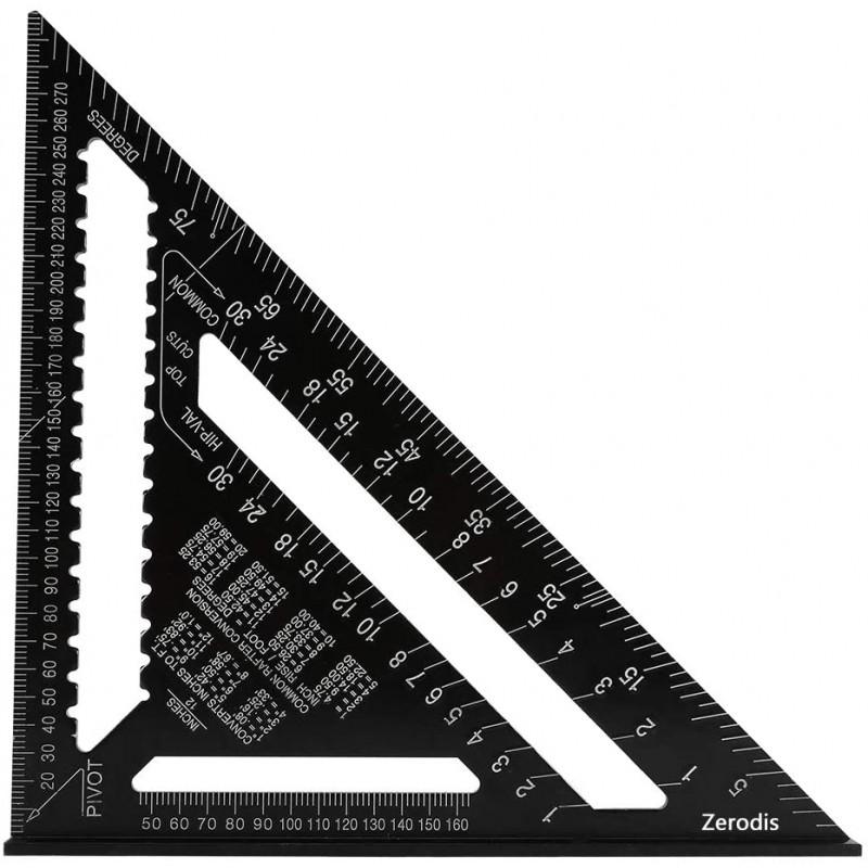 앵글 트라이앵글 트라이앵글 보고관 ©12인치 알루미늄 합금 측정 도구 블랙