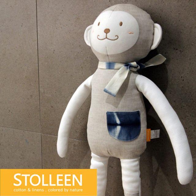 [천삼백케이] [슈톨렌] [슈톨렌 STOLLEEN] 키큰원숭이 애착인형, 단품