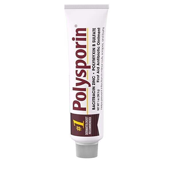 Neomycin이없는 Polysporin 응급 조치 항생제 연고 여행용 크기 1 개 Oz 튜브 (POP 5722201125)