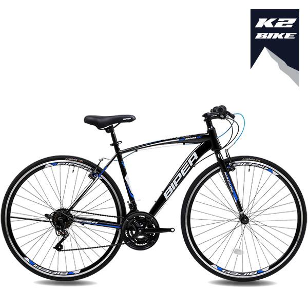 2021 K2BIKE 하이브리드자전거 메커드H21 700C 21단, 메커드H21(430)블랙+블루, 미조립