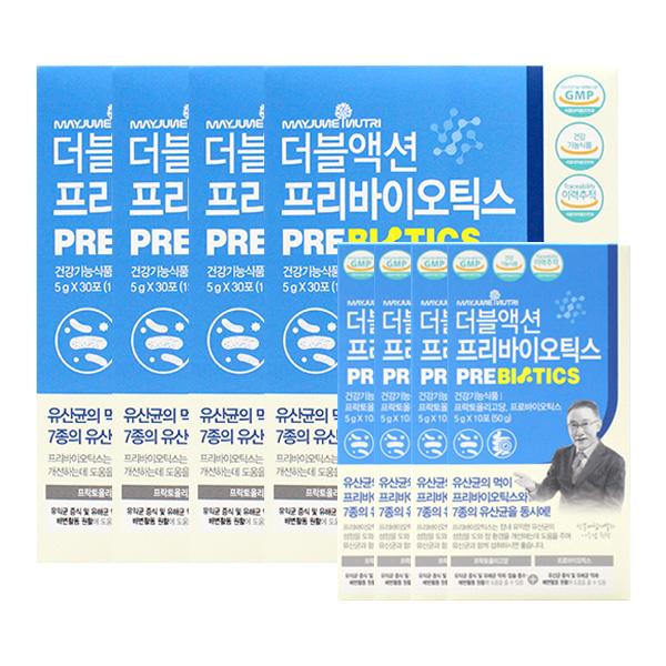 메이준뉴트리 더블액션 프리바이오틱스 30포X4+10포X4, 단품