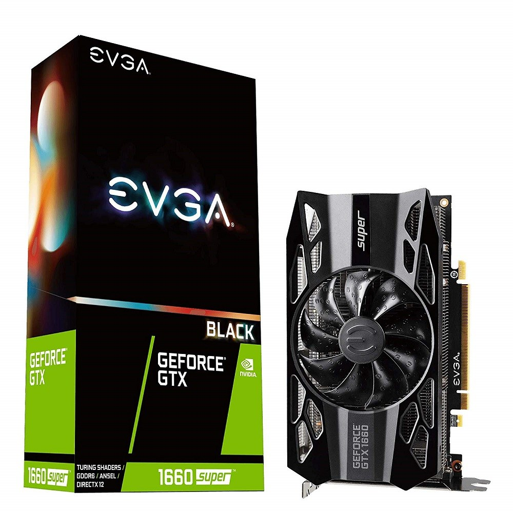EVGA 06G-P4-1061-KR GeForce GTX 1660 Super Black Gaming 6GB GDDR6 Single Fan 그래픽카드