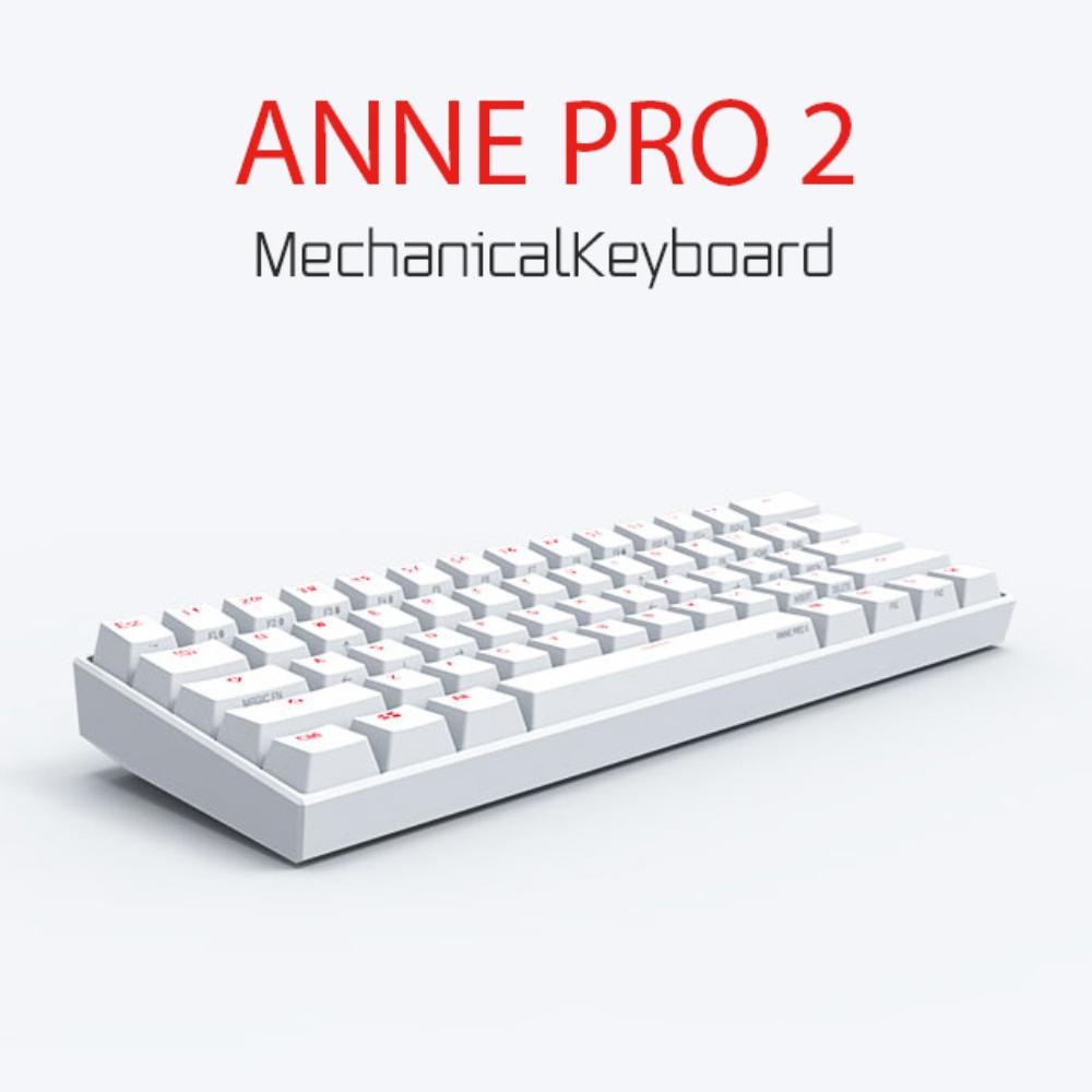 앤프로2 ANNE PRO 2 무선 기계식 키보드 루프 annepro2 게이트론 카일 체리, 공식 표준, 블랙 박스 샤프트 (Kailh)-티 샤프트