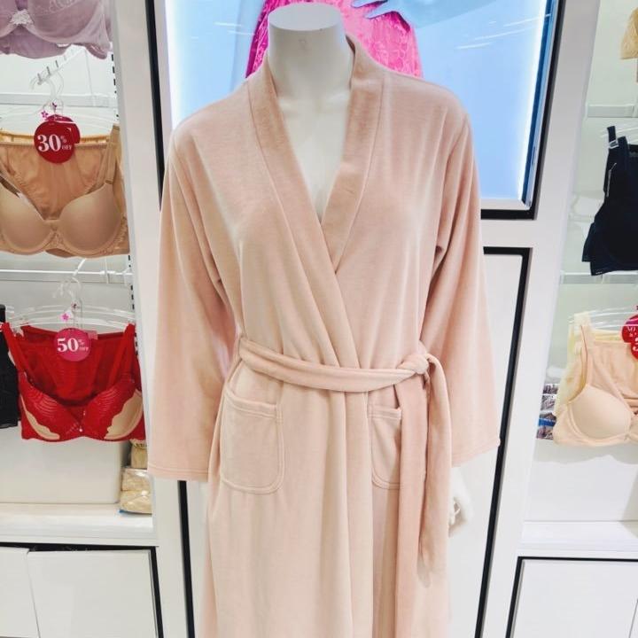 비비안 수 면혼방 핑크핑크한 심플 여성 로브가운 샤워가운 목욕가운(NC해운대 킴스)LG5490S