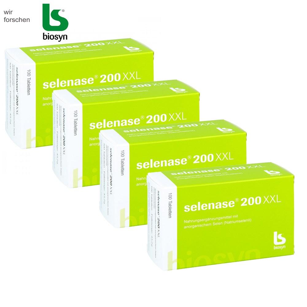 셀레나제 200XXL 셀레늄 온가족 건강식품 독일직배송, 4box