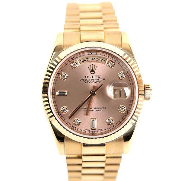 (대전중고명품)로렉스 118238 데이데이트 금통 핑크 다이아 10P 36mm