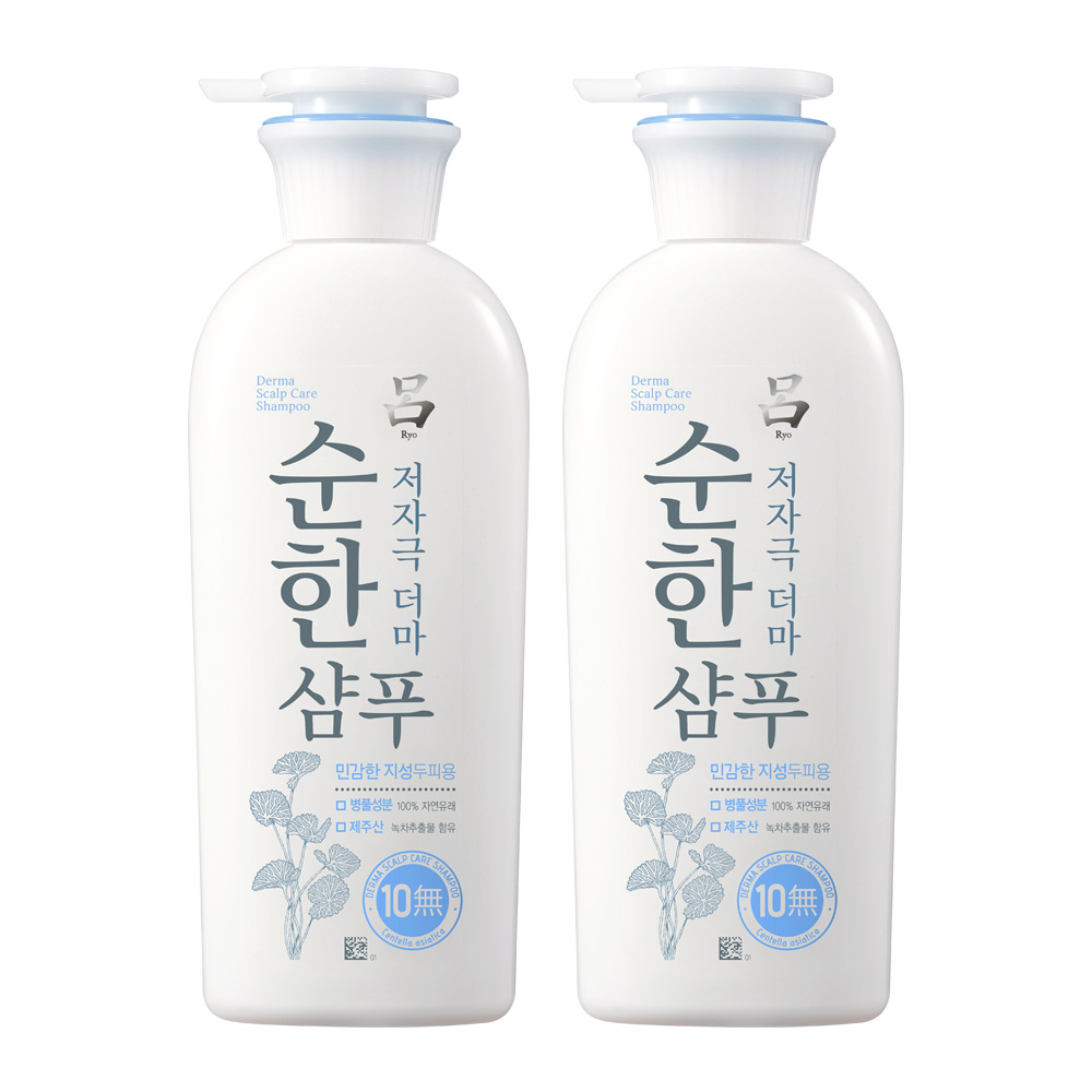 려 [본사직영] 순한 저자극더마 지성용 샴푸 400ml, 2개