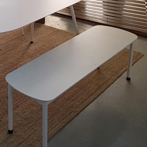 라움 화이트 원형 식탁 타원형 라운드 테이블 2인 4인 6인 8인 벤치 의자, 화이트벤치1400