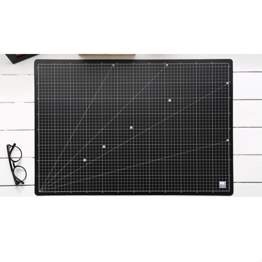 용지규격 표기 커팅 책상 매트 흑/대 키보드매트 깔판 컴퓨터책상매트 책상정리용품