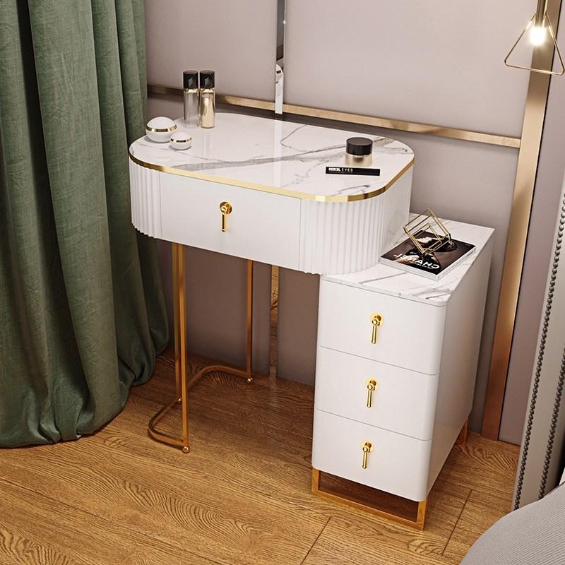 예쁜 화장대 대학생 화장대 화장대 선물 중고등학생 화장대 북유럽 현대 미니멀리스트 침실, 전체 의상, 60cm 순백색 테이블 캐비닛