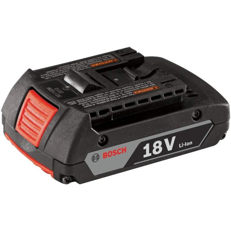 디지털 연료 게이지가 장착 된 Bosch BAT612 18V 리튬 이온 2.0 Ah 슬림 팩 배터리, 단일옵션, 단일옵션