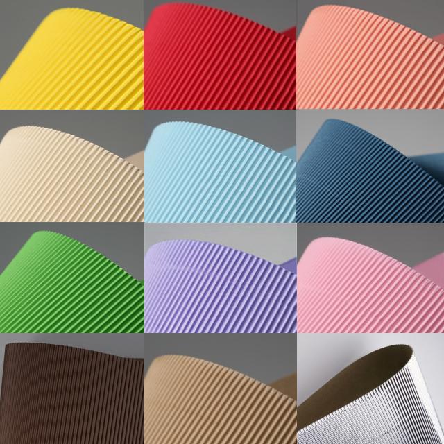 [두성] 4절 골판지 색상선택 - 골판지공예 종이공예 골지공예 골판지접기 색골판지, 08.분홍