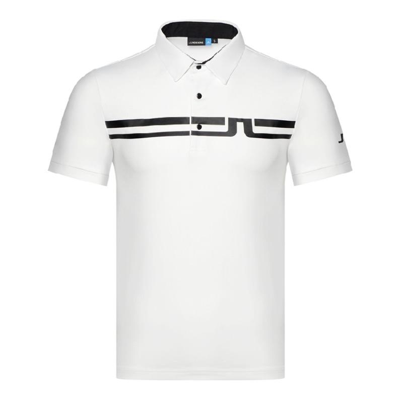 제이린드버그 JL골프 의류 남성 골프 반팔 티셔츠 폴로 셔츠, 하얀