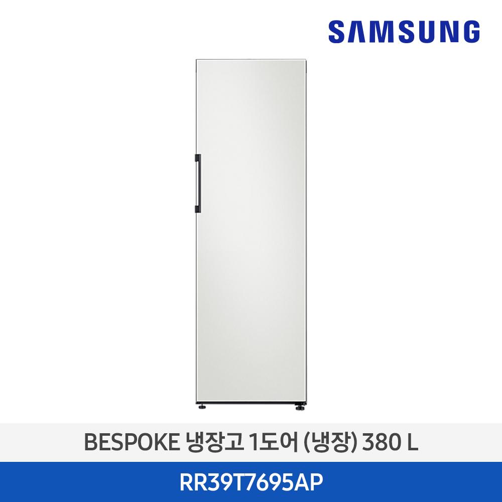 삼성 비스포크 1도어 냉장고 RR39T7695AP 스탠드 380L 키친핏, 코타 차콜(RA-R23DAA05)
