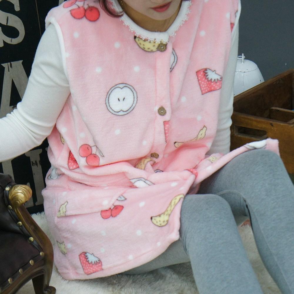 이지야 수면 조끼 1+1 성인 겨울 빅사이즈 홈웨어 극세사 수면잠옷