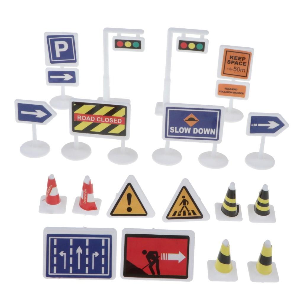 STK영어 도로 표지판 18 세트 교통 표지판 어린이 교육 완구