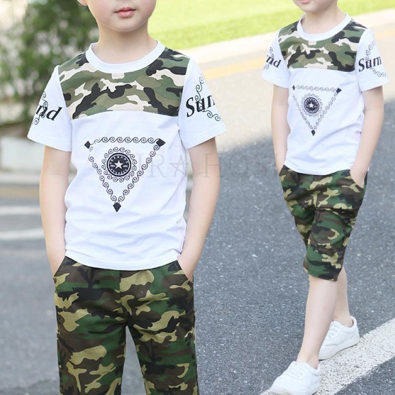 kirahosi 퀄리티 6 아동 남아 주니어 여름 반팔 티셔츠 +반바지 세트 투피스 8 CSz1q80