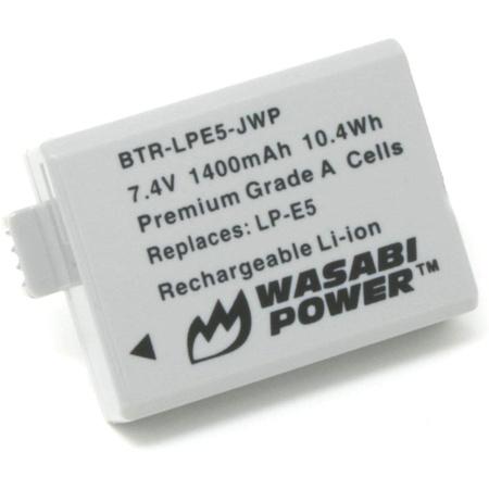 호환 Wasabi Power Battery for Canon LP-E5 and Canon EOS 450D 500D 1000D Kiss F Kiss X2 Kiss X3, 상세 설명 참조0, 상세 설명 참조0
