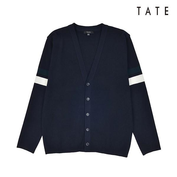 TATE 테이트 테이트 남성 면혼방 배색 포인트 가디건