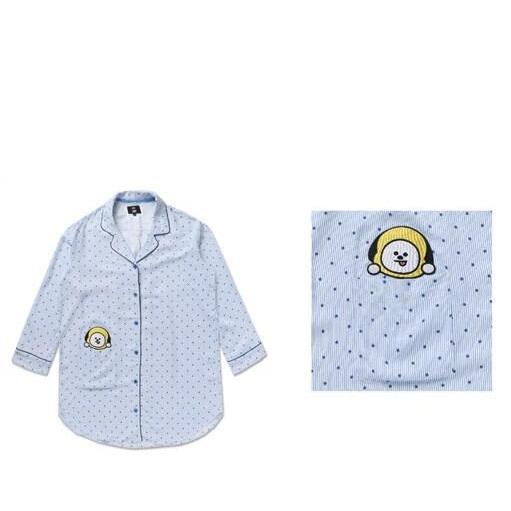 부드럽고 느낌좋은 잠옷겸용 실내복 원피스 bt21 캐릭터 잠옷 방탄소년단 BTS 셔츠형 원피스