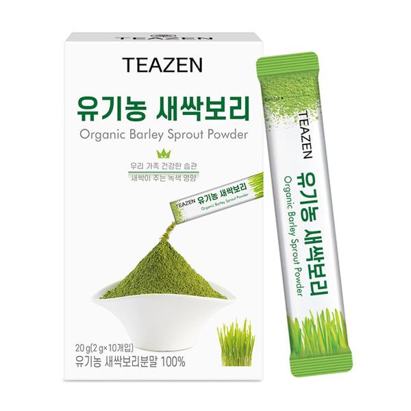 티젠 유기농 새싹보리분말 2g 1곽 10스틱 1박스 12개