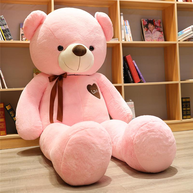 안고자는인형 대형인형 곰돌이인 곰인형 수면 대형곰인형, 직각 1.4m 직선 1.2m, 핑크