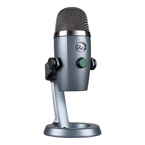 블루예티 블루예티 블루 예티 나노 전문 콘덴서 USB 마이크 다중 픽업 패턴 및 PC 및 Mac 578165 미국출고 마이크, Shadow Grey, Microphone