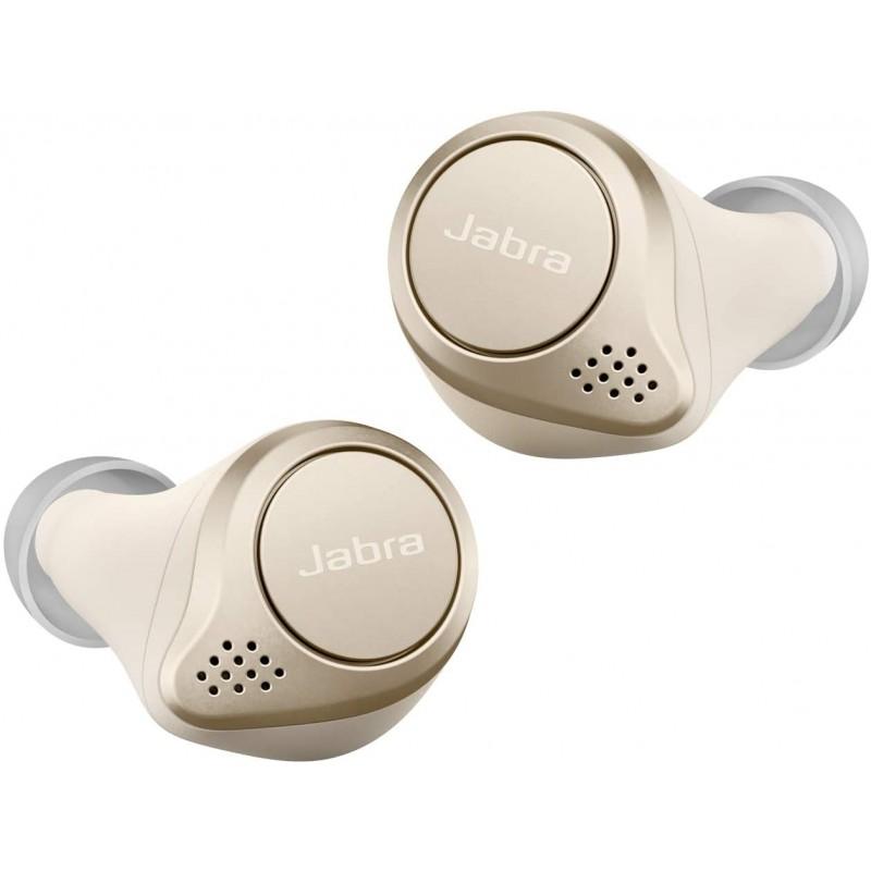 Jabra 전체 무선 이어폰 Elite 75t 골드 베이지 Alexa 지원 bluetooth 5.0 노이즈 캔슬링 마이크 방진 방, 단일상품, 단일상품