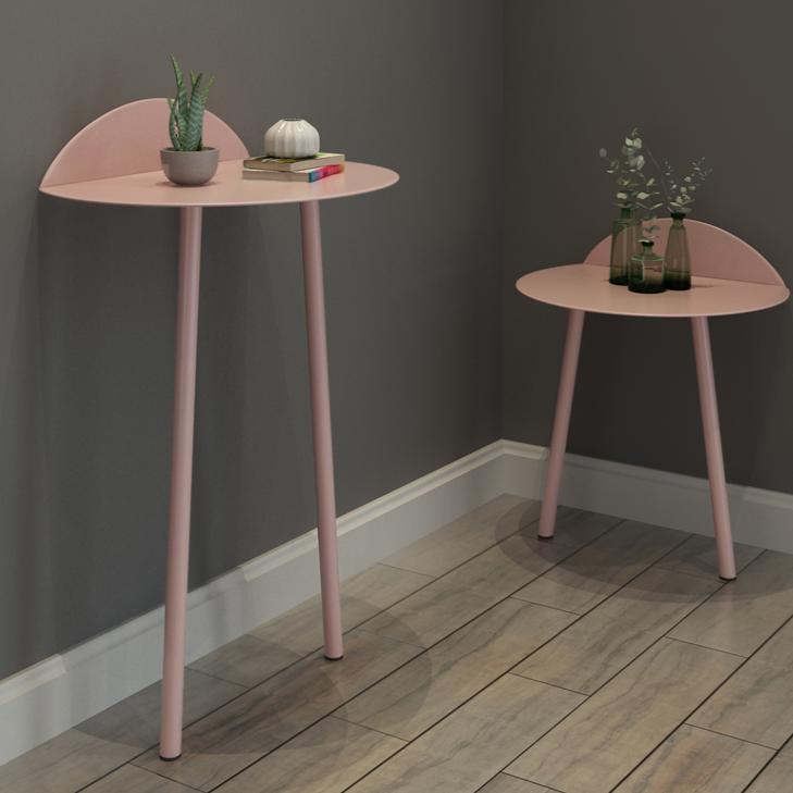 북유럽풍 이케아 액자 미니 쇼파 침대 사이드 협탁 테이블, 큰 분홍색