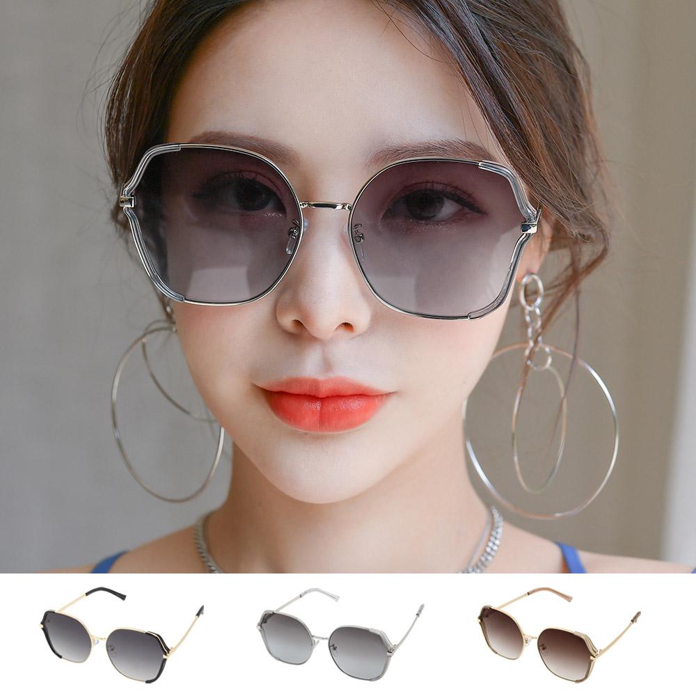 여자 남자 선글라스 오버사이즈 스퀘어 투톤 패션 반미러 썬 틴트 GD202