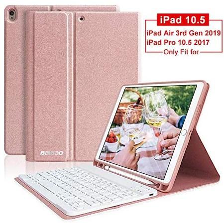 아이패드 에어3 키보드 케이스 T364 애플펜슬 홀더 BAIBAO iPad Pro 10.5 Keyboard Case with Pencil Hold, One Color