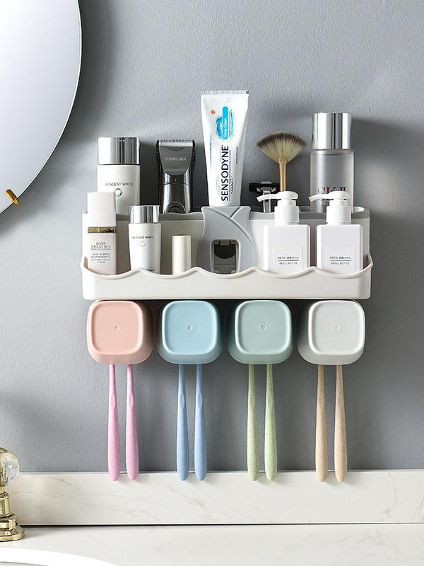 아름다홈 튜브링거 세트 욕실 칫솔 컵 치약짜개, 수량확인개, A103