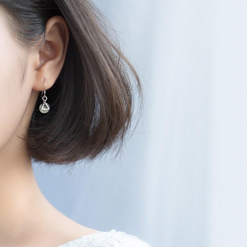 명품 여성 연예인 셀프 인싸템 드롭 귀걸이 귀 액세사리 삼각 개성 원형