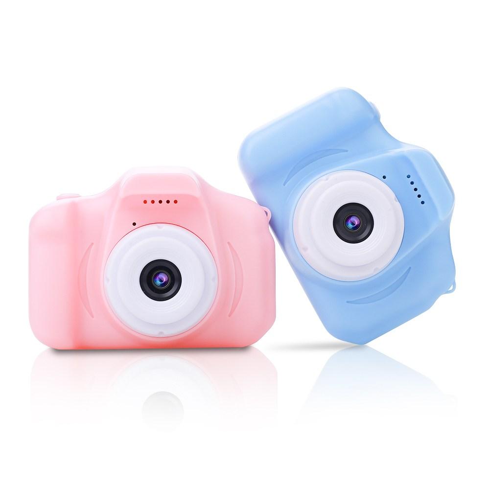 어린이날선물 미니 휴대용 디지털 장난감 촬영 키즈 카메라 토이, 1개, 핑크