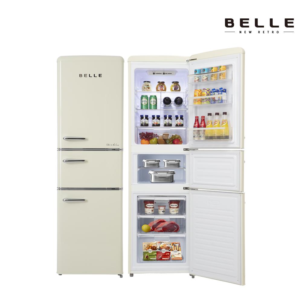 벨 레트로 글라스 소형 냉장고 RT25ACM 225L 3도어 (POP 4650448510)