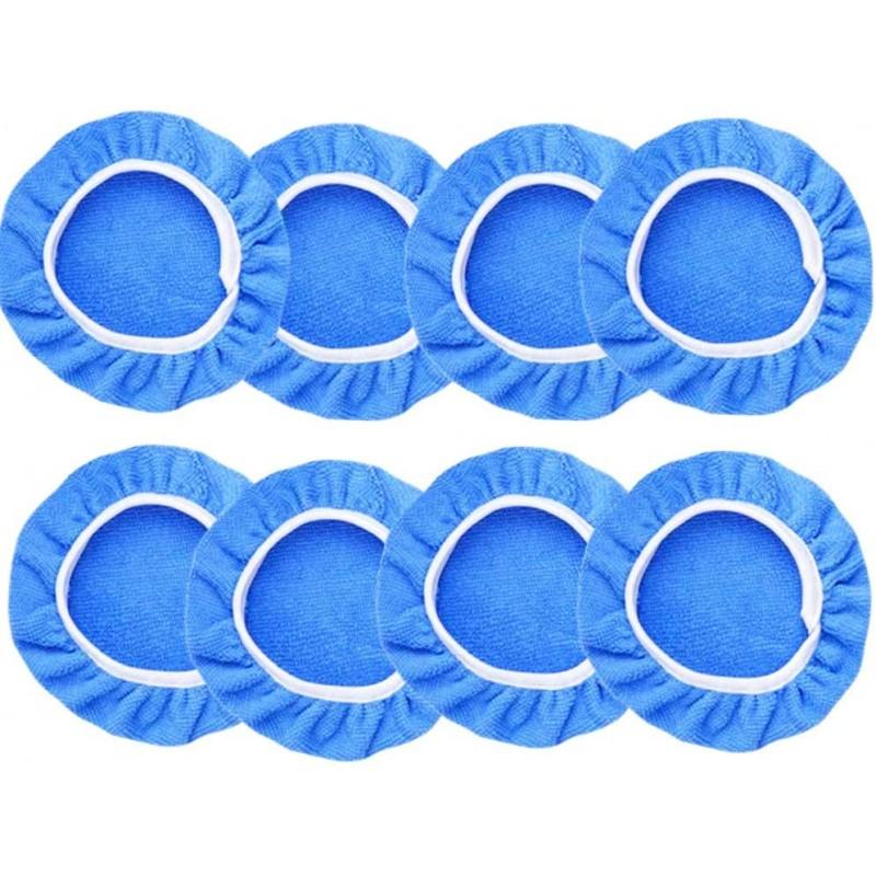 킹브라 8Pcs 자동차 폴리셔 패드 보닛(5~6인치) 소프트 마이크로파이버 폴리싱 보닛 버퍼 패드 커버 자동차 폴리셔용 왁싱, 단일옵션
