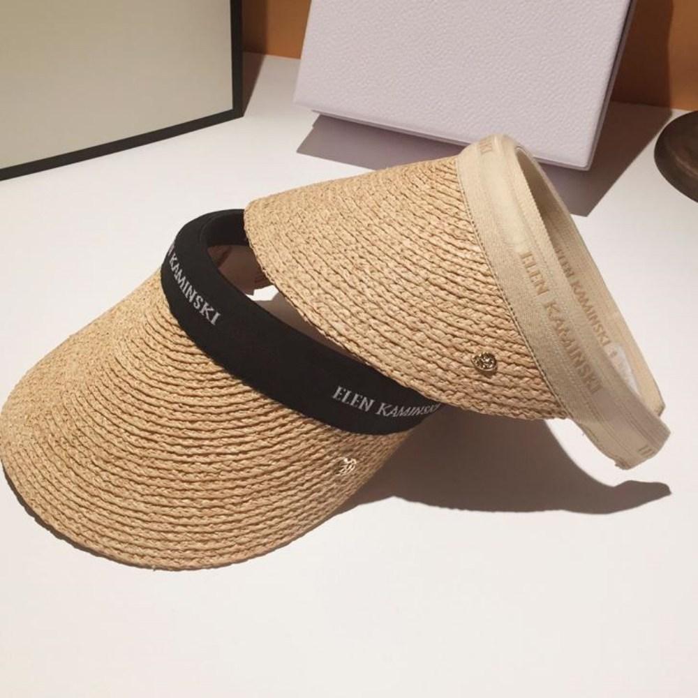헬렌 비앙카 라피아 선스크린 패션 밀짚 모자