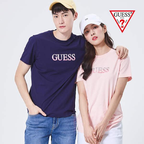 [현대백화점][게스진] NL2K9353 남여공용 그라데이션고주파 GUESS 반팔 티셔츠