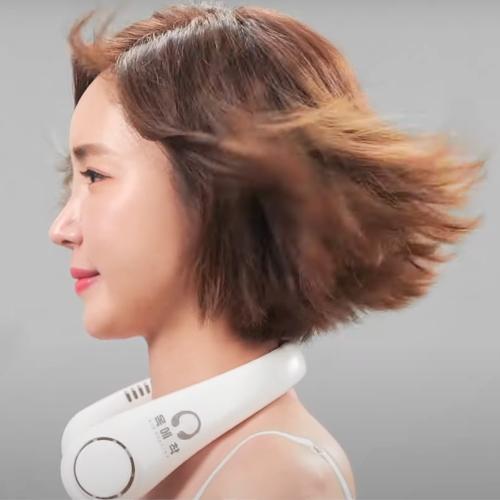 [TV홈쇼핑 정품] 인포벨 에어서핑 목에착 목걸이 목 선풍기 목풍기, 화이트(1개)-2-5761229454
