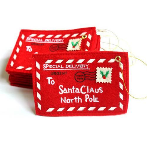 산타 클로스 북극 크리스마스 봉투 펜던트 트리 액세서리 2019 크리스마스, 상세내용참조