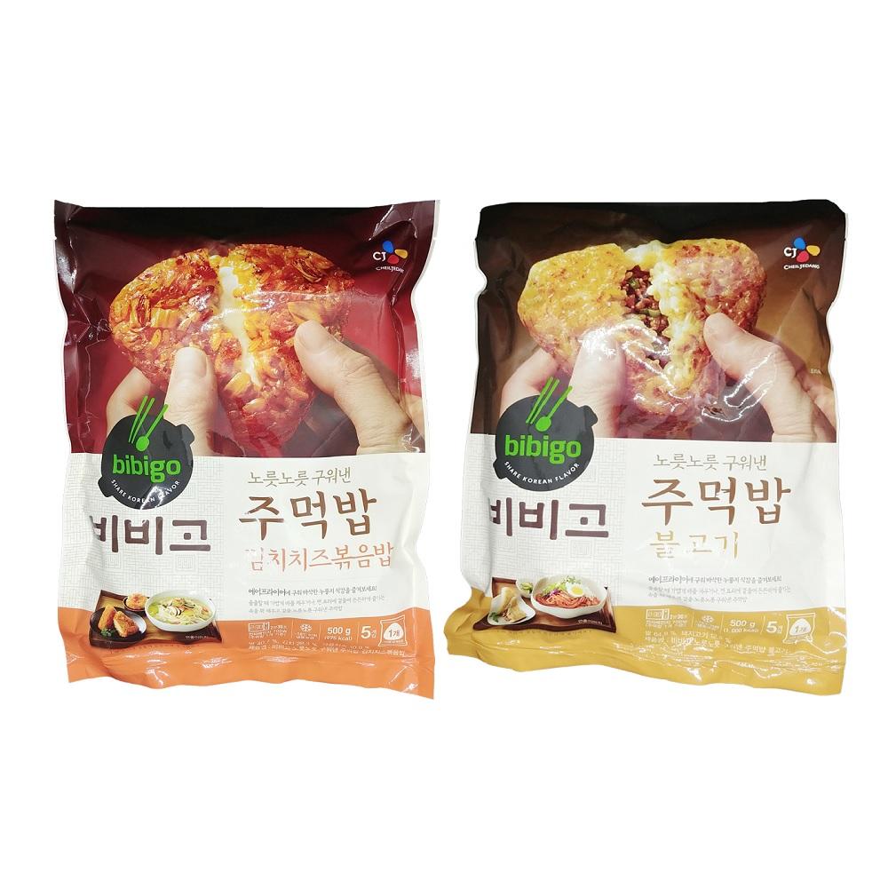 비비고 CJ 주먹밥 김치치즈볶음밥 500g +불고기 500g(무료배송), 2개