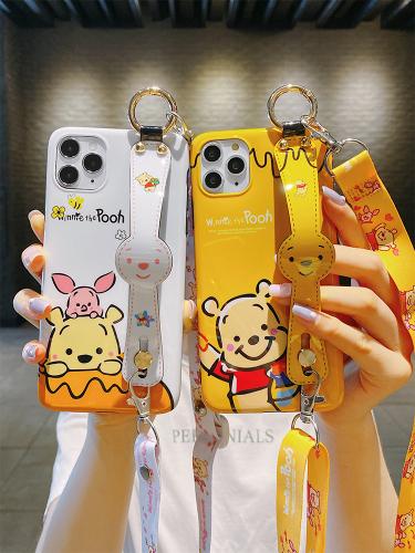 해외발송 아이폰 핸드폰줄 케이스아이폰11 케이스 캐릭터 곰돌이 밴드 아이폰x-49407, 단일옵션, 10.엑스스맥스 화이트-위니베어 밴