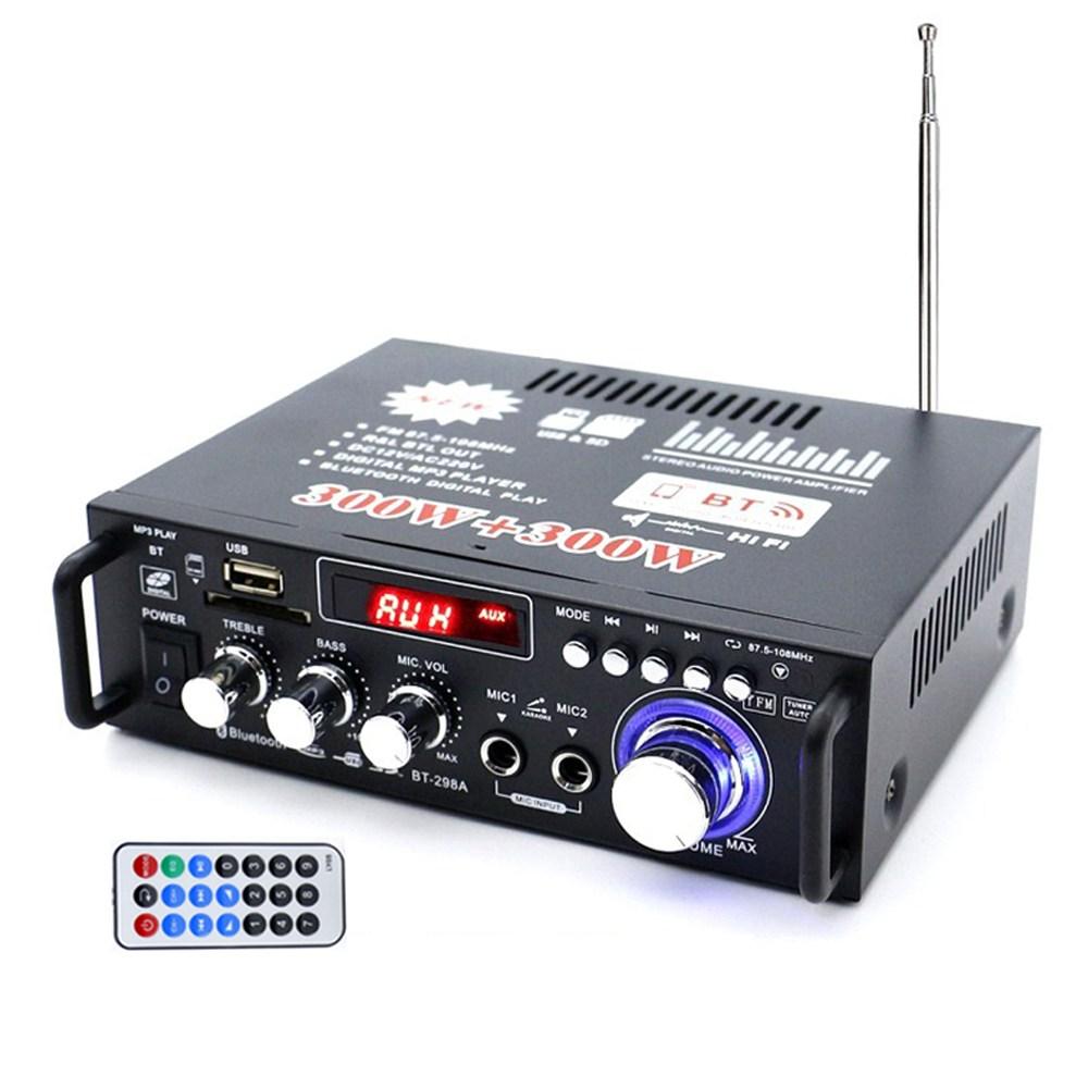 아이티코리아 블루투스 HIFI 파워 미니 앰프 라디오 220V 12V 겸용, BT-298A