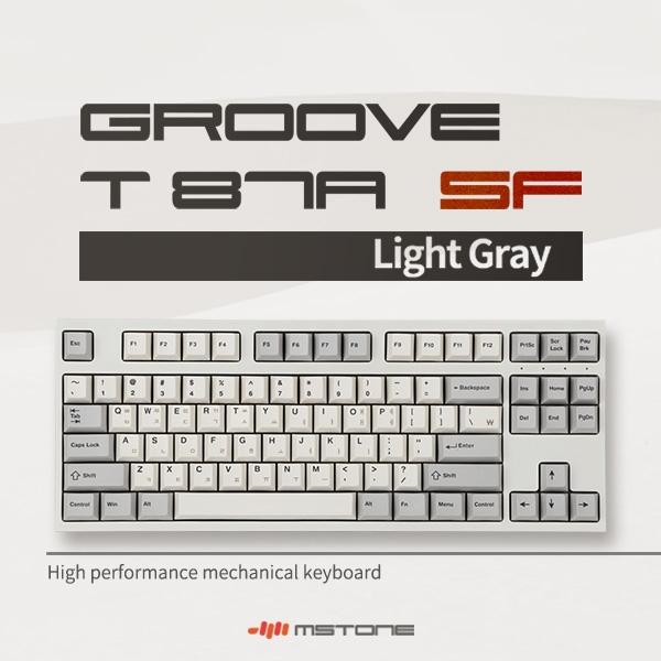 엠스톤 mStone Groove T 87A SF 라이트그레이 (저소음 갈축), 옵션없음, 단일상품