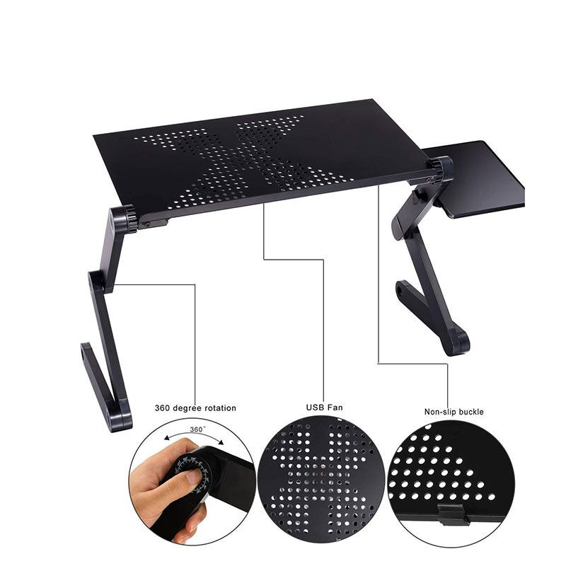 패션 휴대용 접는 노트북 테이블 철 미국 러시아 중국 주식 소파 침대 사무실 노트북 스탠드 데스크 컴퓨터 노트북 침대 테이블|노트북 책상|, 1개(A0), CHINA(A0), HH3468SDBL(A0)