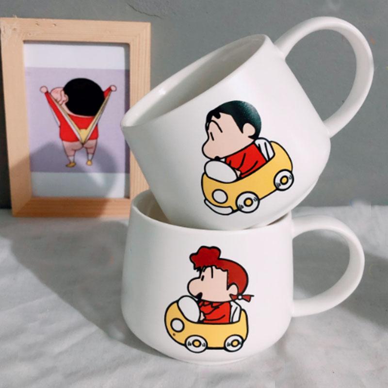 짱구 컵 머그 세라믹 캐릭터 홈카페 크레용신짱, 단품, 유리머그컵