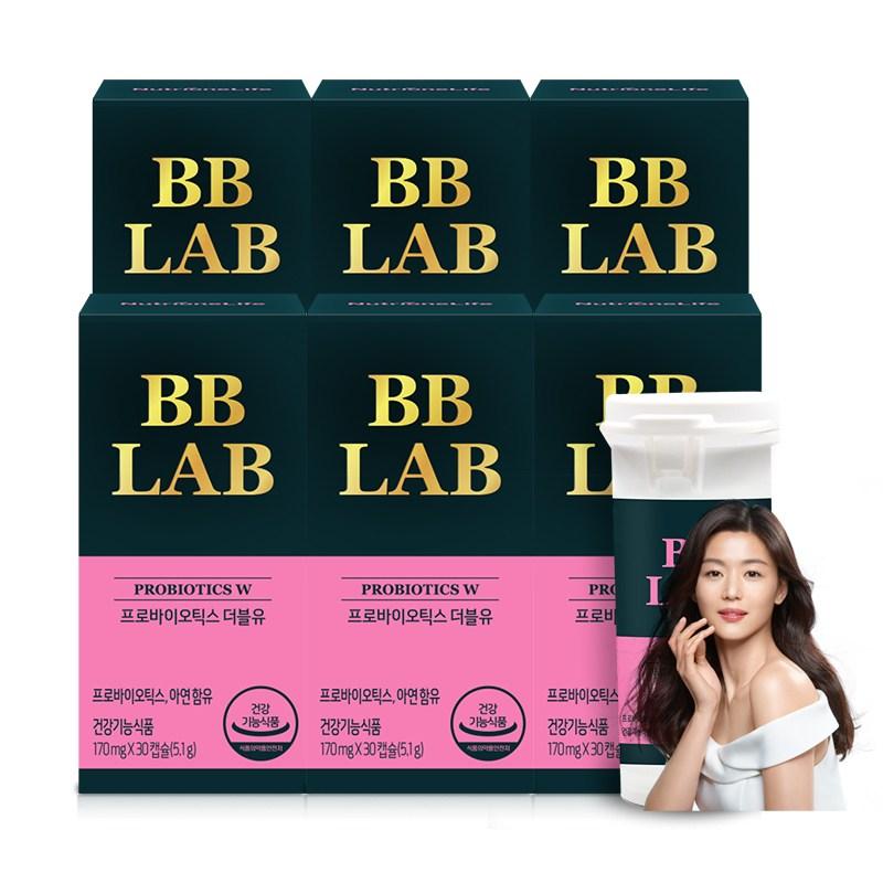 뉴트리원 질 유래 특허유산균 여성 장 건강 면역 강화 소형캡슐 비비랩 프로바이오틱스 + 활력환, 6box