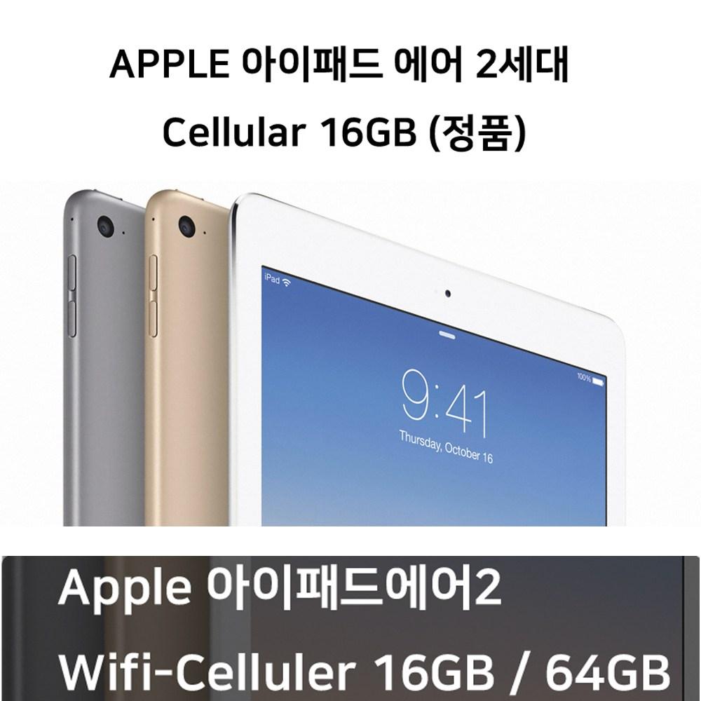 애플 아이패드에어2 16G Wifi Cellular ios태블릿, 골드