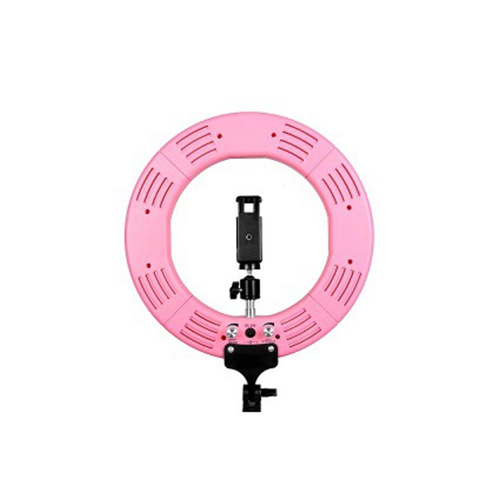 생활살림 스튜디오 유튜브 개인 방송 조명 LED 링 라이트, 1Ea, LED 링조명 18인치 핑크