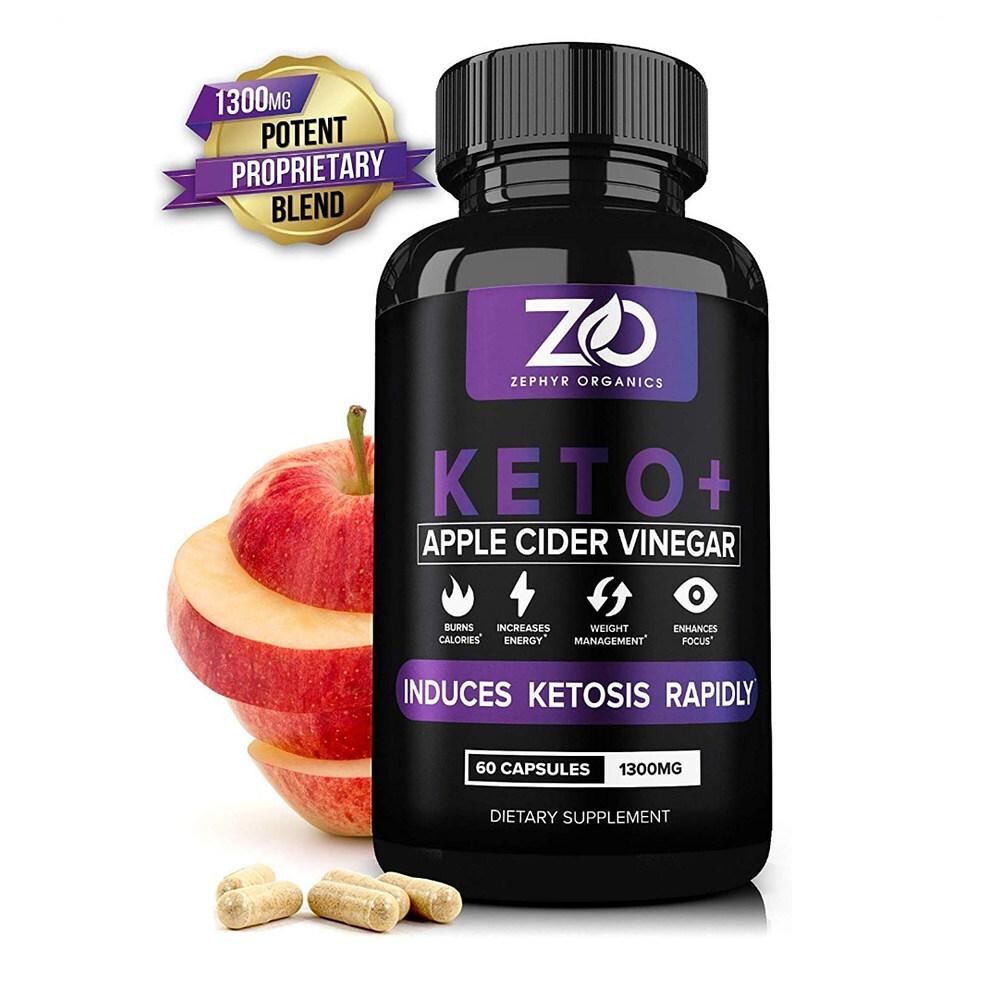 Zephyr Organics 제퍼 60캡슐 탄수화물컷팅제 애플사이더비네거 뱃살빼기, 1mg, 1개